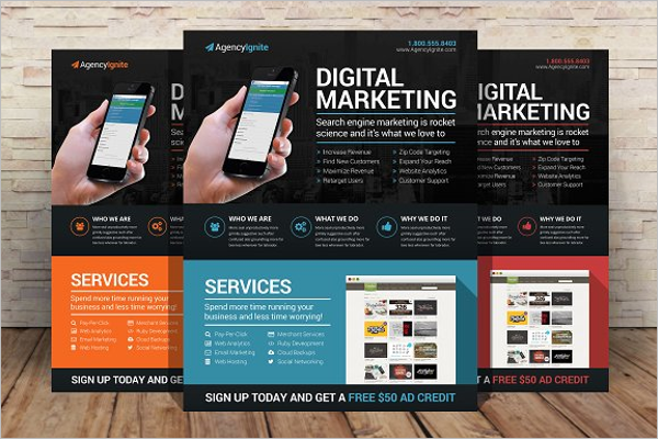Digital Marketing Flyer PSD