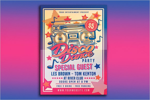 Disco Dance Party Poster Design
