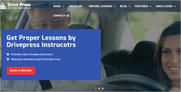 Driving School Website Template