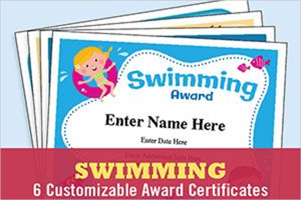 Duckling Swimming Certificate TemplateDuckling Swimming Certificate Template