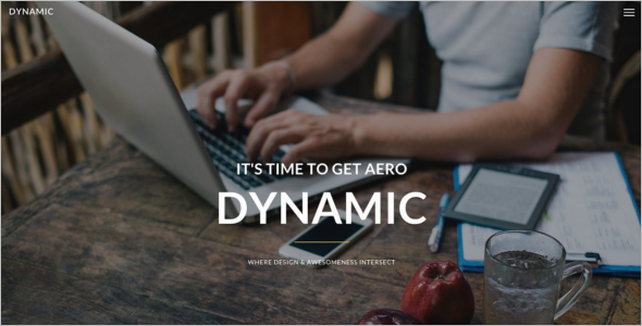 Dynamic Portfolio Website Template