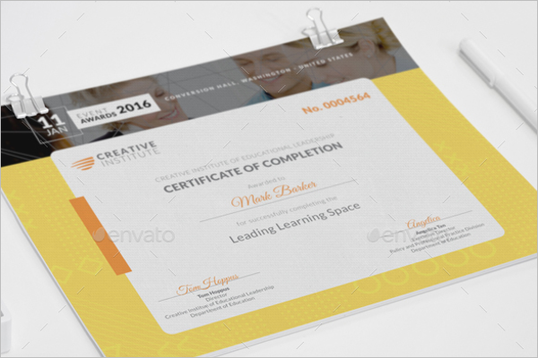 Editable Academic Certificate Template