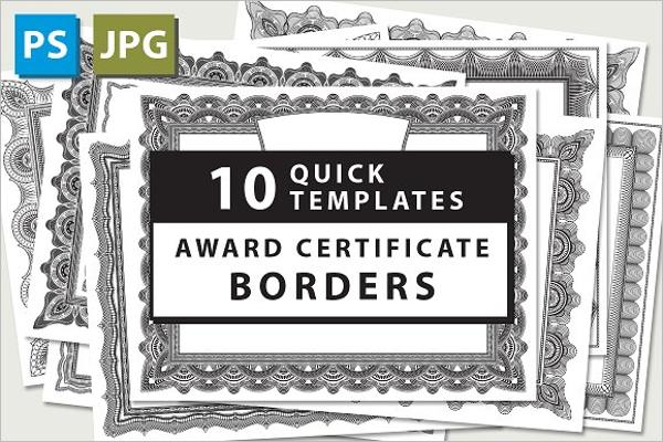 Editable Award Certificate