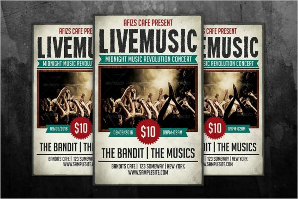 Editable Band Poster Template