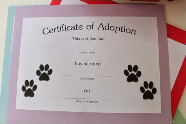 17  adoption certificate templates free pdf  word design