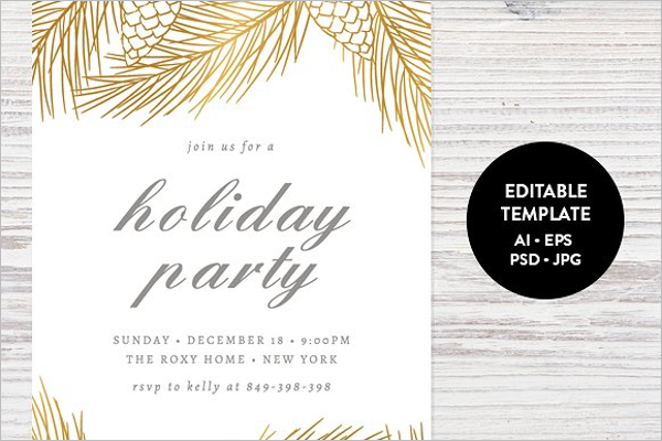 Editable Christmas Card Template