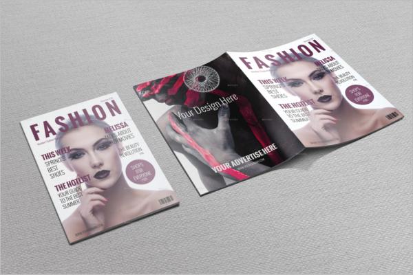 Editable Fashion Magazine Mockup