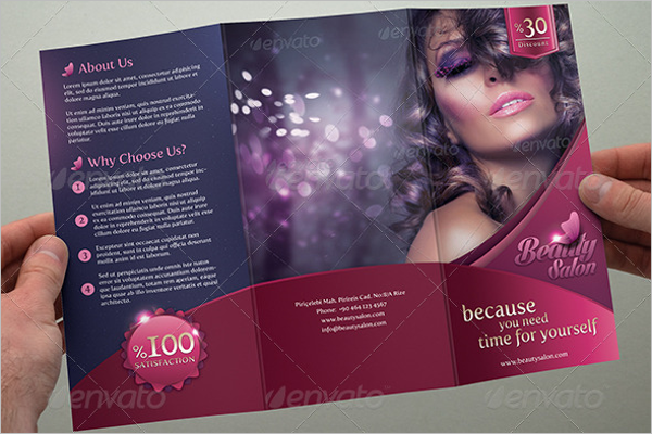 Editable Hair Salon Brochure Template