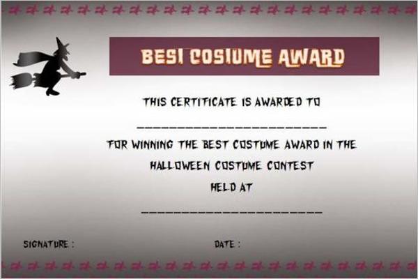 Editable Halloween Certificate Template