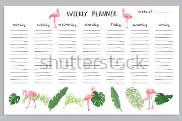 Editable Planner Template