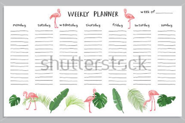 Editable Planner Template