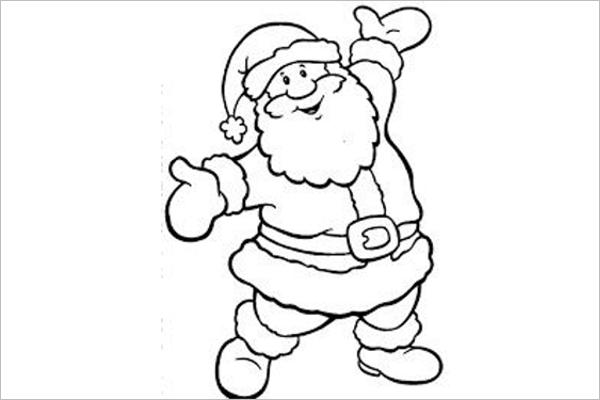Editable Santa Claus Design