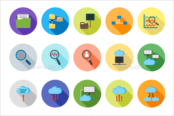 Editable Share Icons PSD