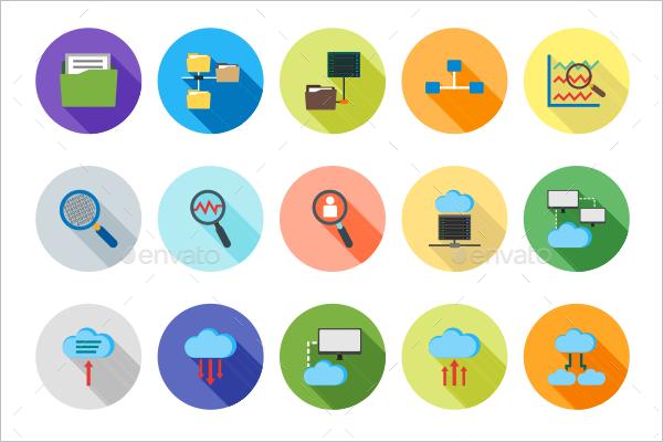 Editable Share Icons PSD