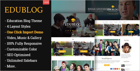 Education Blog WordPress Theme