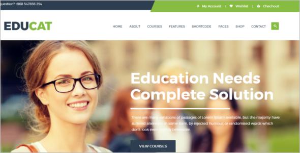 Education Responsive Website Template