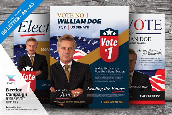 32+ Election Poster Templates Free Word, PSD Formats