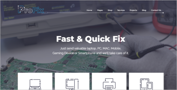 Electronic Services Website Template