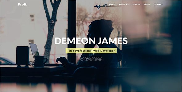 Elegant Personal Website Template