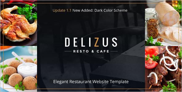 Elegant Restaurant Website Template