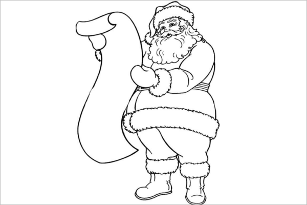Elegant Santa Claus Template