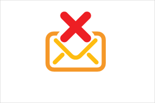 Email Delete Icon Design