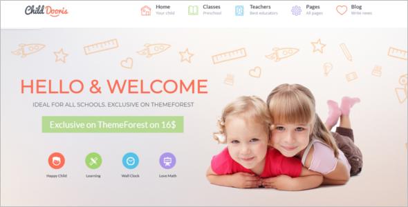 Fable Kindergarten WordPress Theme
