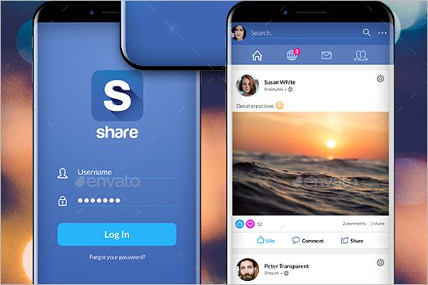 Facebook Share Vector Design