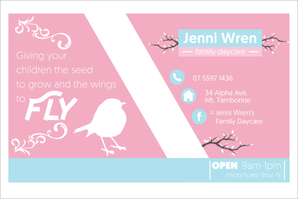 Family Daycare Business Card Template