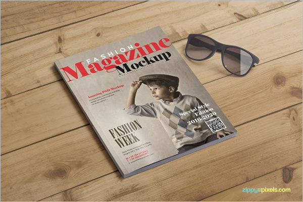 Fashion Magazine Mockup Design