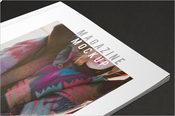 Fashion Magazine Mockup Template