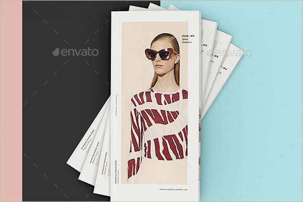 Fashion Tri Fold Mockup Template