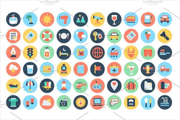 Flat Travel Icons Design