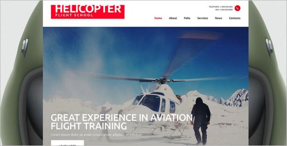 Flight School Responsive Website Template