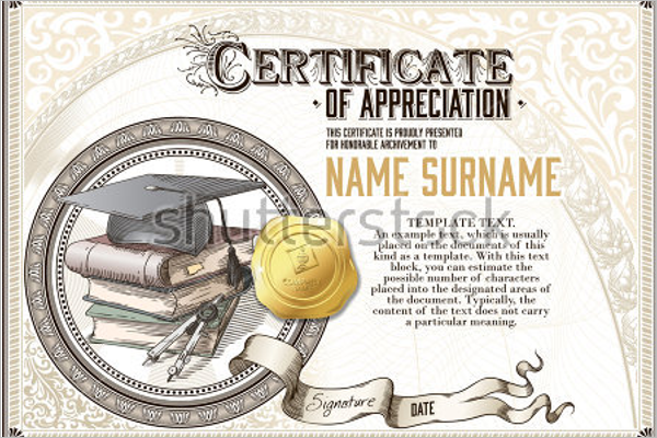 Free Academic Certificate Template  Money Certificate Template