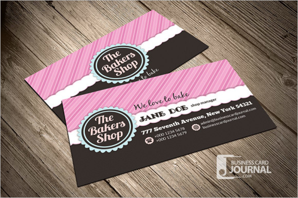 Free Bakery Business Card