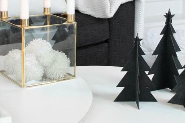 Free Black Christmas Paper Tree Idea