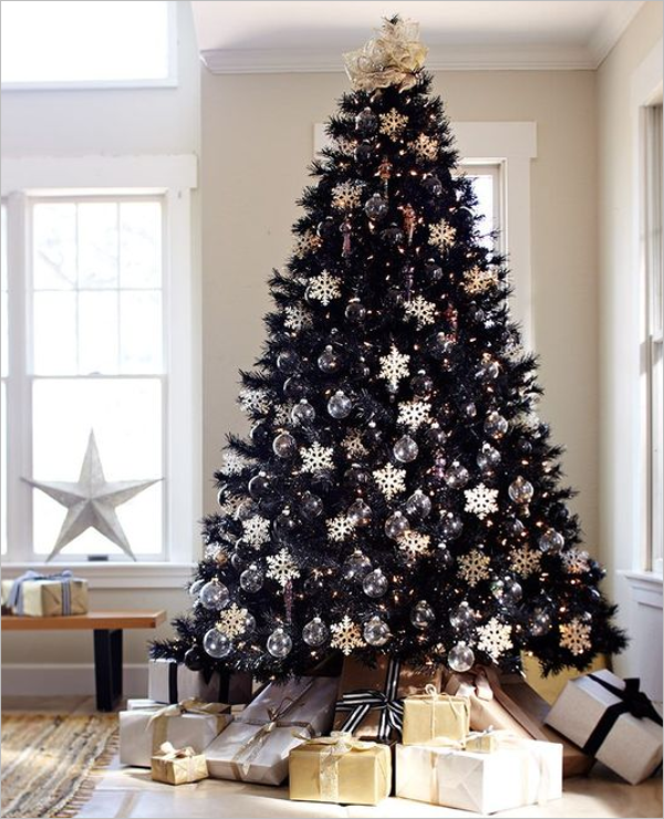 Free Black Christmas Tree Template
