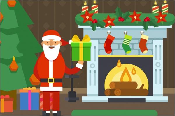 Free Christmas Scene Decoration