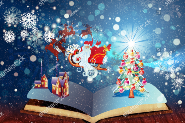 Free Christmas Story Book Template