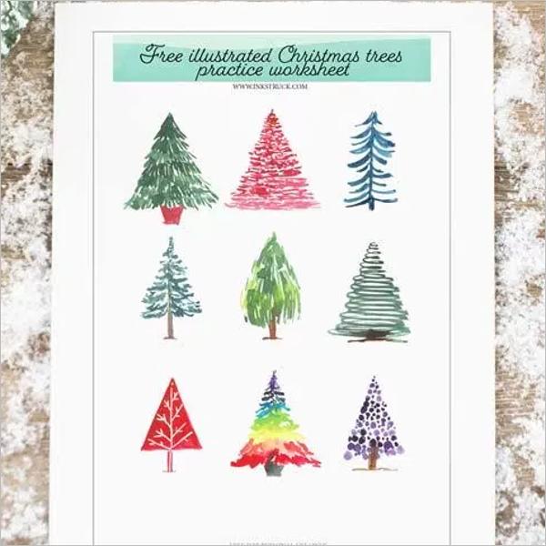 Free Christmas Tree Worksheet