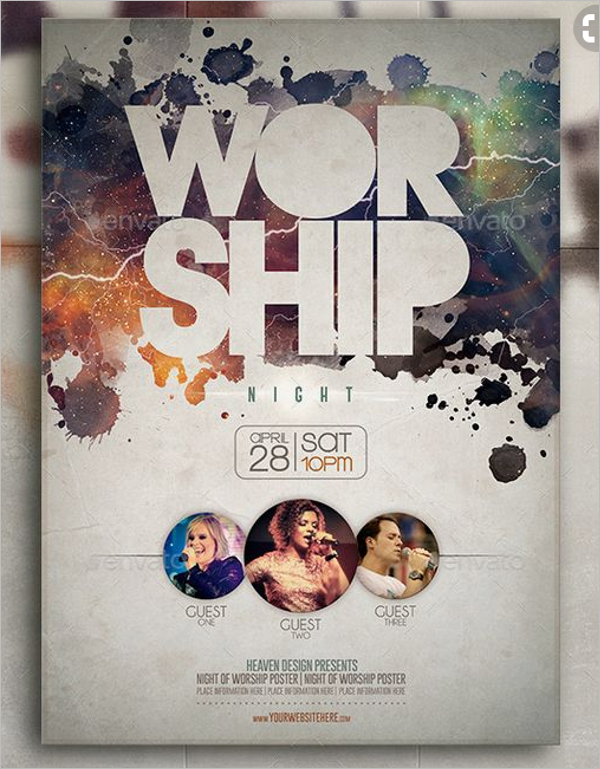 Free Church Poster Template