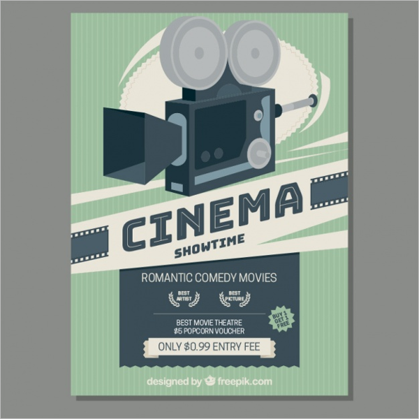 Free Cinema Poster Template