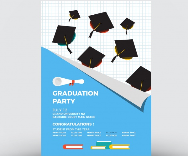 Free College party brochure Template