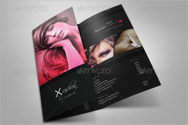 Free Hair Salon Brochure Template