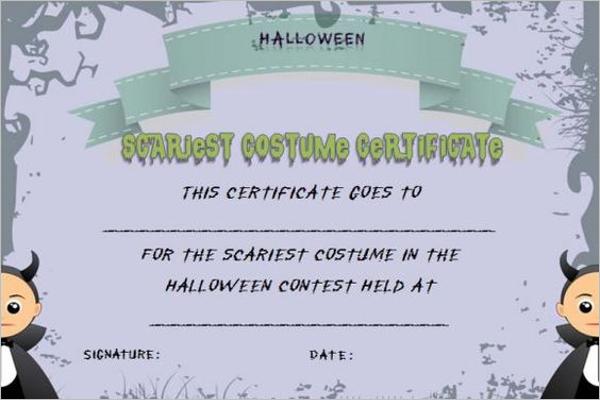 Free Halloween Certificate Template