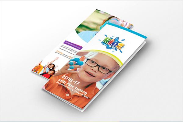 Free Kids Brochure Template Design