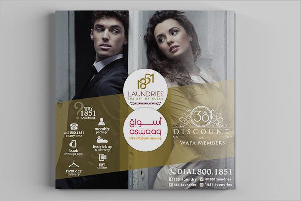 Free Laundry Brochure Design