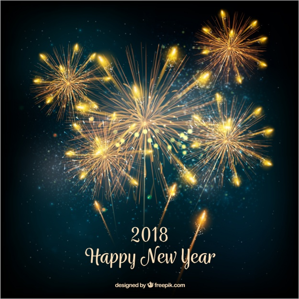Free New Year Background Party Design