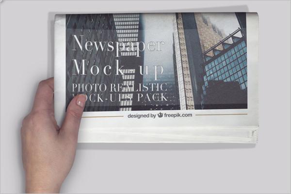 Free Newspaper Mockup template